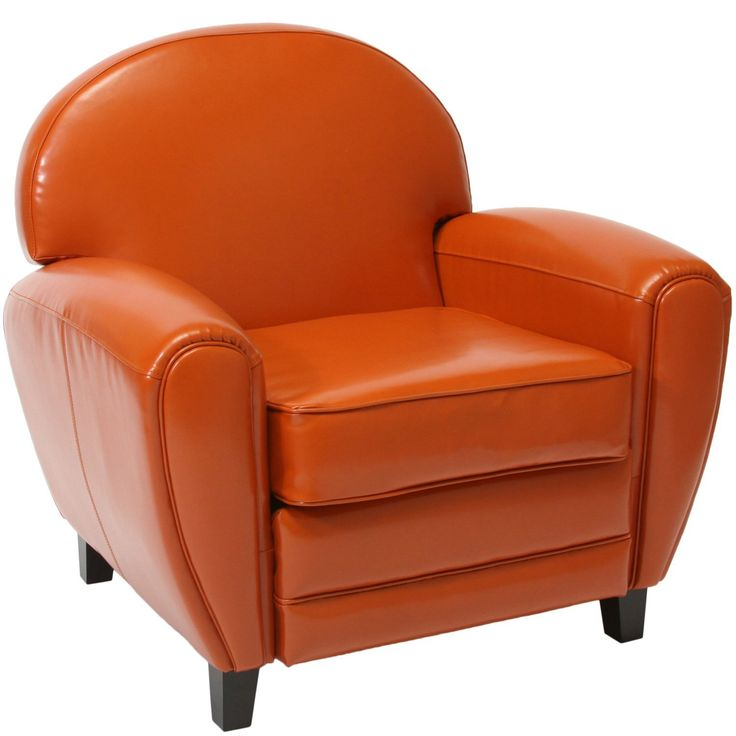 Best Amazon Com Best Leather Cigar Chair Burnt Orange Home 400 x 300
