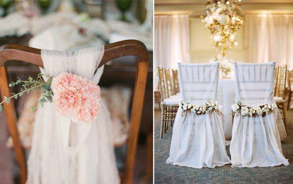 decoracion de sillas para bodas - Buscar con Google