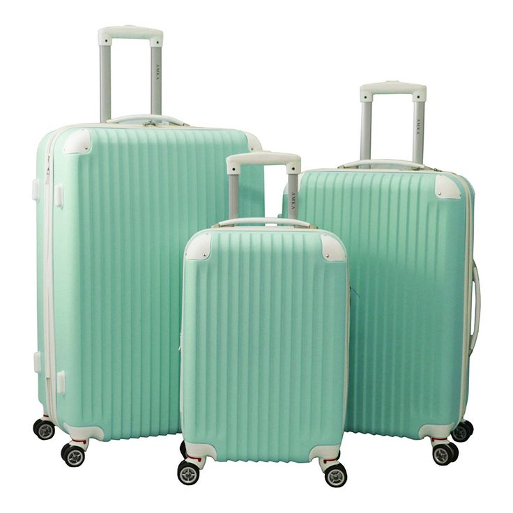 3 Piece Luggage Set II Color: Seafoam ** Read more  at the image link. (This is an Amazon Affiliate link and I receive a commission for the sales)