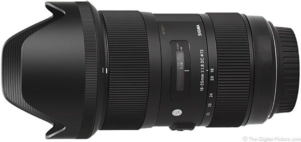 6. Sigma 18-35mm f/1.8 DC HSM Art Lens: The World's First f/1.8 Zoom Lens, Great Build Quality, Excellent Image Quality.  For more commentary on this lens and many others visit: http://www.The-Digital-Picture.com/Canon-Lenses/Canon-General-Purpose-Lens.aspx