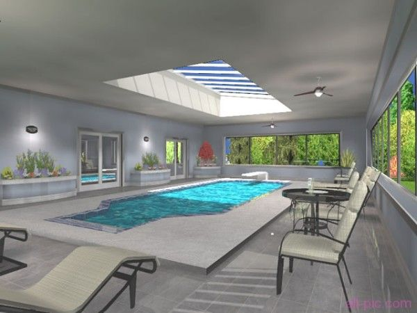 49 best indoor swimming pool images on pinterest dream for Mansion house plans with indoor pool