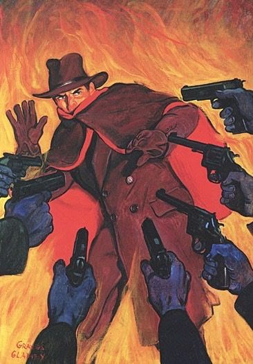 THE SHADOW PULP MAGAZINE COVER MASTER OF FLAME