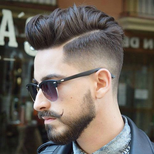 High Taper Fade with Textured Parted Hair