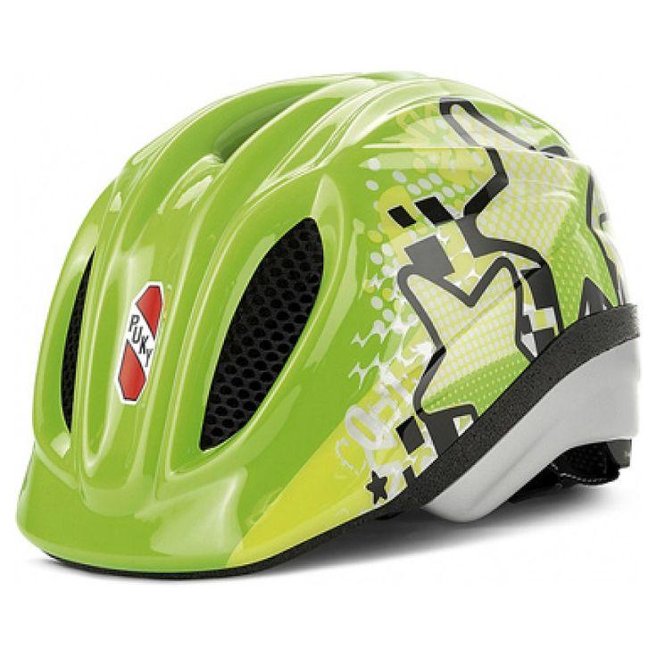 Puky Fahrradhelm PH 1 kiwi Größe: M/L #PUKY #Fahrradhelm #kiwi #grün #Sterne #Stars #Drehsystem #anpassen #cool #Jungen #Mädchen #trendig #Sicherheit #safetyfirst #48bis59cm #ab5Jahren