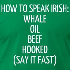 HOW TO SPEAK IRISH: WHALE OIL BEEF HOOKED (SAY IT  T-Shirts