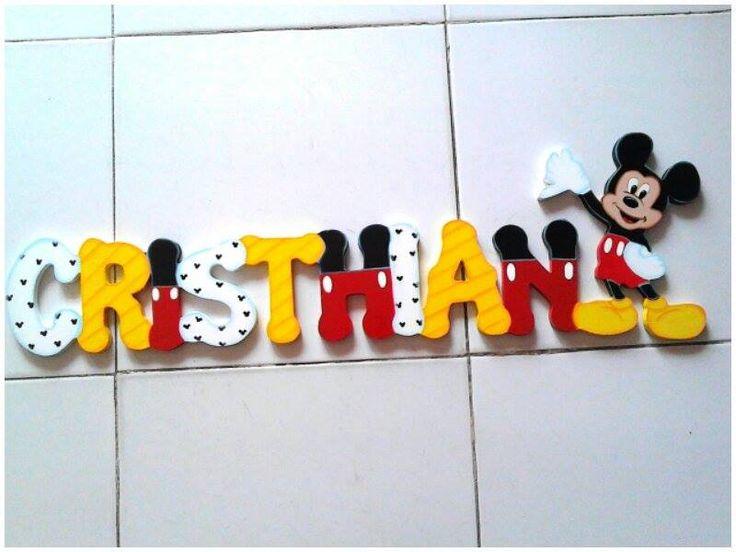 Nombre Cristhian motivo Mickey Mouse