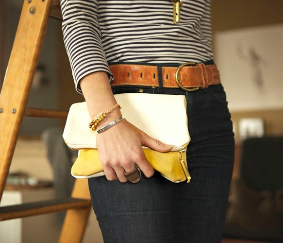 Leather Clutch by BTWN WIND and WATERMatching Outfit, Foldover Minis, Butter Clutches, Handmade Bags, Jeans, Brass Zippers, Leather Belts, Clutches Pur, Foldover Clutches