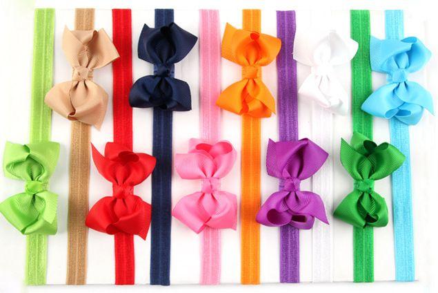 20 unids/lote niños accesorios Bebé recién nacido niña de accesorios arco de la cinta Del Niño bandas para La Cabeza niños Headwear Banda Para El Cabello