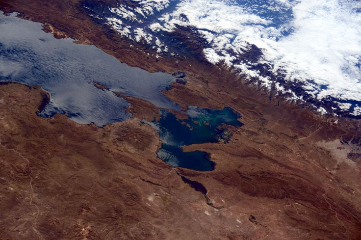 https://flic.kr/p/tMpfGG | Bolivia | Near Lake Titicaca the city of Tiwanaku, capital of a power pre-Hispanic empire, is a World Heritage site.  Credit: ESA/NASA  [131K7596]
