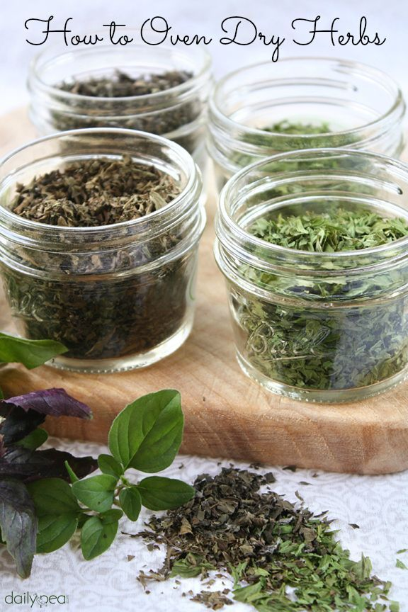 How to oven dry herbs!