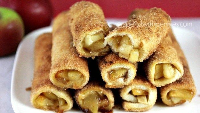 Réalisez ces mini-roulés aux pommes : très faciles à faire, vous allez adorer !