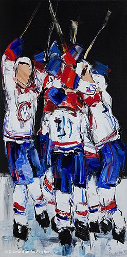 Kimberly Kiel, 'Away Game', 20'' x 40'' | Galerie d'art - Au P'tit Bonheur - Art Gallery
