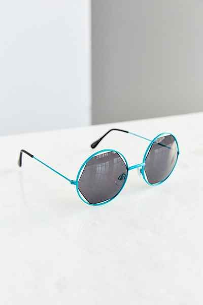 Inside & Out Geo Round Sunglasses