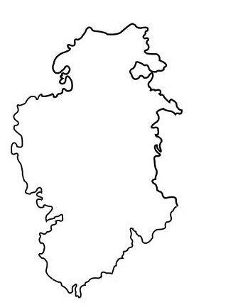 Mapa burgos colorear