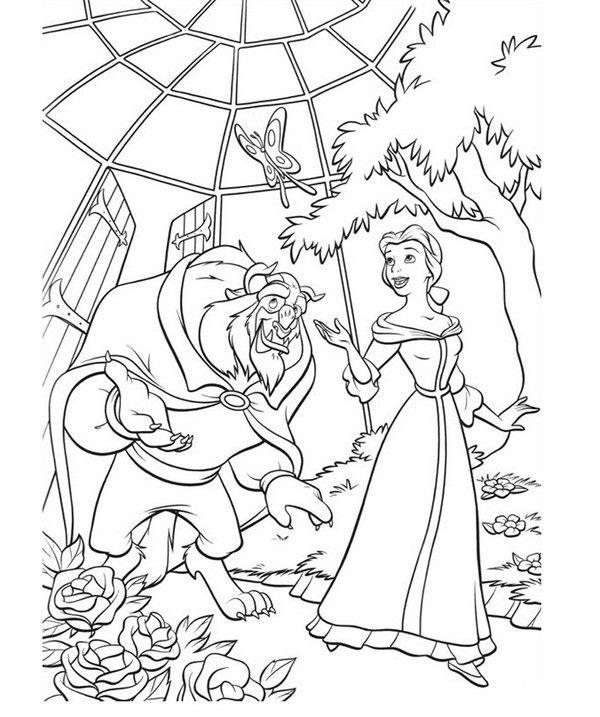 princess belle coloring pages games - photo#24