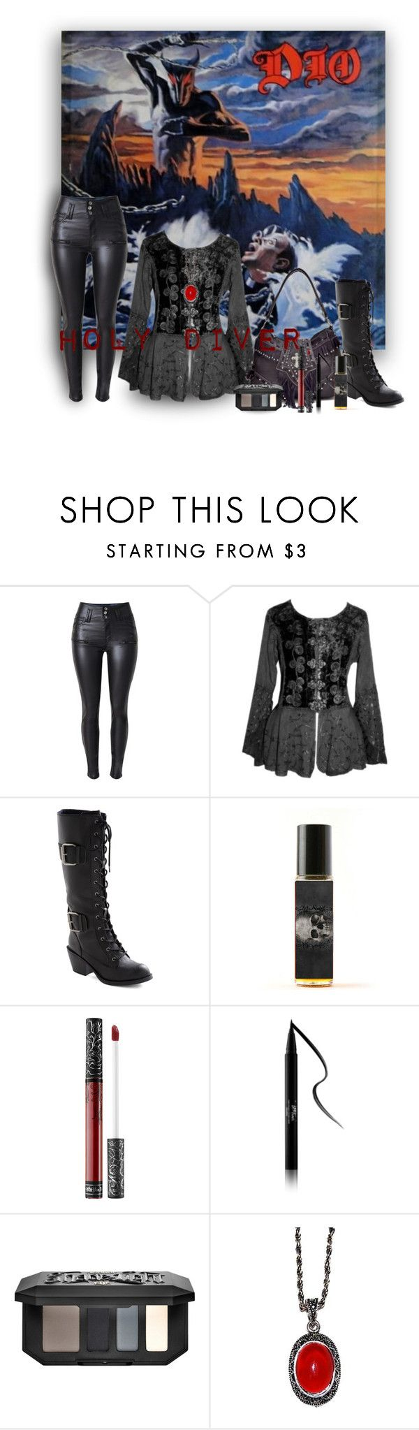 """HOLY DIVER"" by marielecastan ❤ liked on Polyvore featuring Trilogy, Kat Von D"
