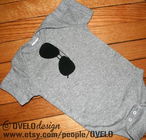 THE ORIGINAL  Aviator Sunglasses Bodysuit in Heather Grey by OVELO, $15.99