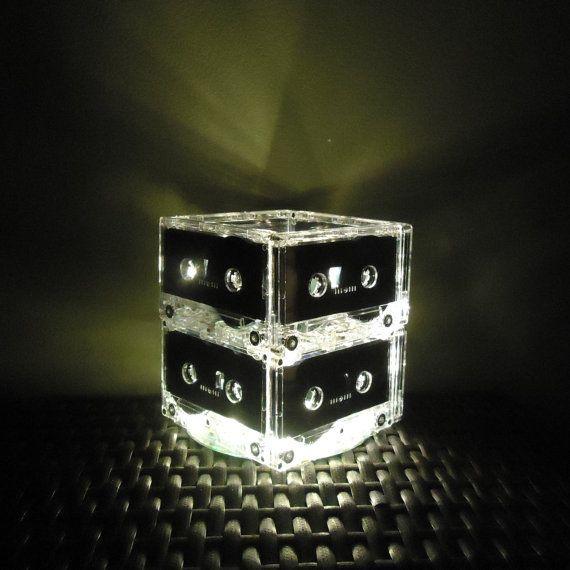 Music Lover Cassette Tape Night Light Lamp Mixtape Light Repurposed tape lamp Mood light