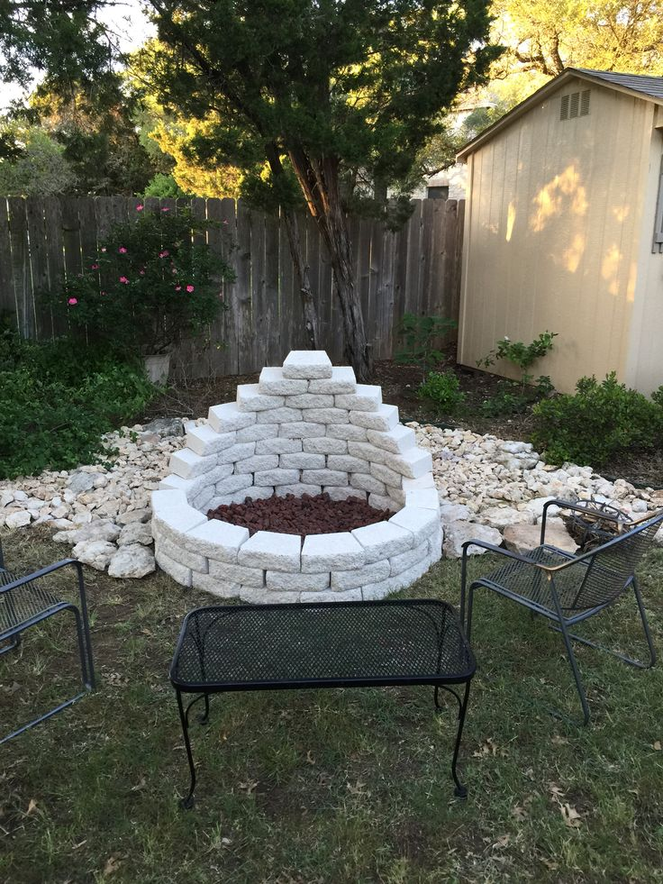 Well I did it myself! Fire pit is complete! #pits #fire #firepit #bonfire