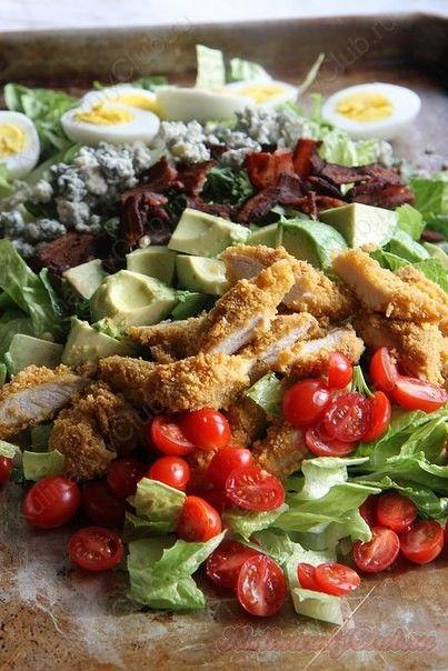 Салат с жареной курицей on http://kulinarniyclub.ru