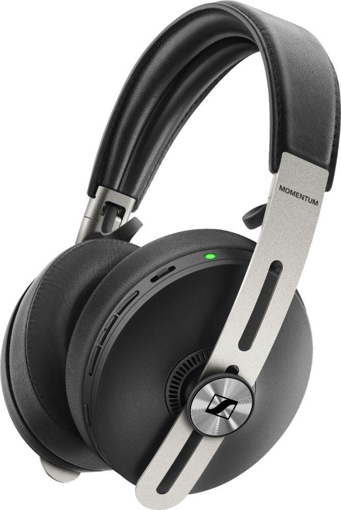 Sennheiser Momentum Wireless Noise Canceling Over The Ear Headphones Black Wireless Headphones Wireless Noise Cancelling Headphones Headphones