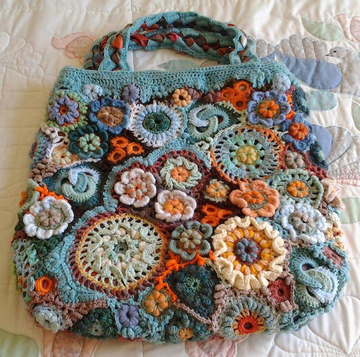 craft bags crochet purses crochet bags beautiful bags freeform crochet ...