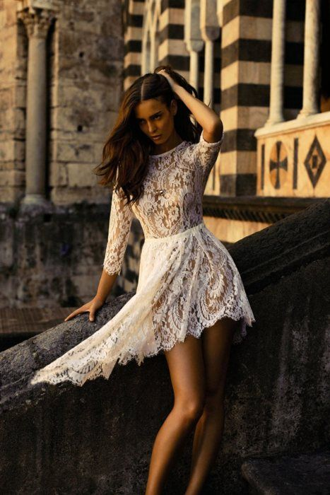 Lace dress: Rehear Dresses, Dresses Fashion, Receptions Dresses, White Lace Dresses, The Dresses, Fashion Editorial, Rehear Dinners, White Noi, Sweet Life