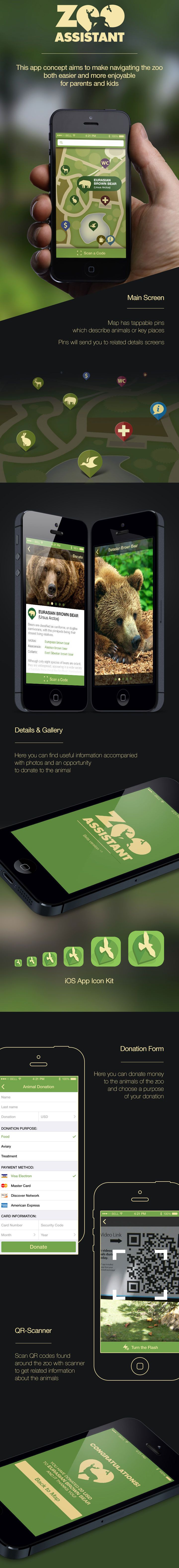 Unique App Design, Zoo Assistant via @rodrigofjaramil #App #Design