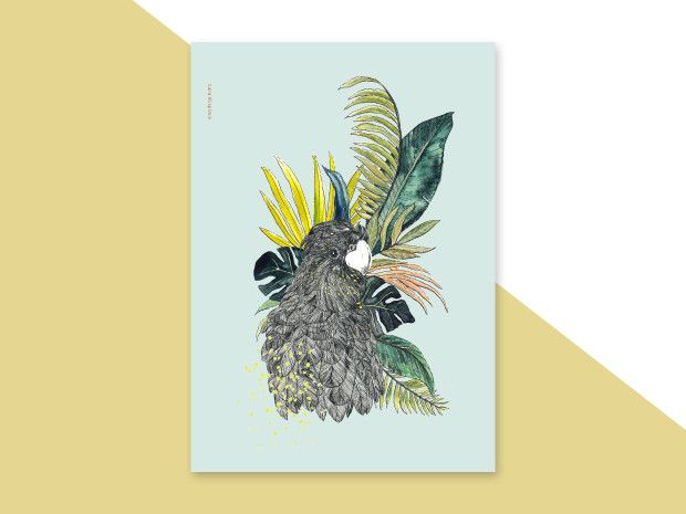 Illustration – Dschungle | A3 print – a unique product by everywhereyougo on DaWanda