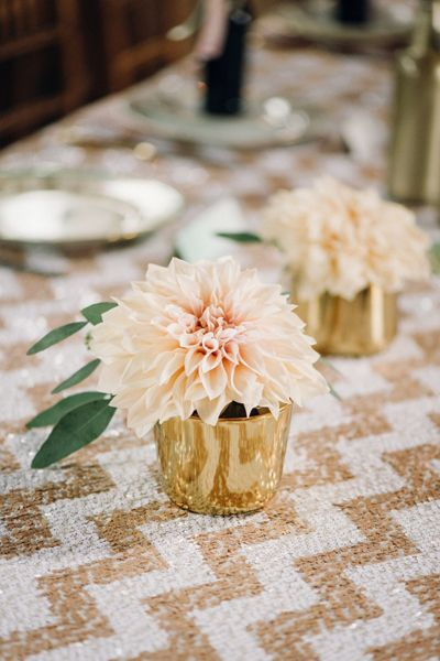 mini dahlia centerpieces