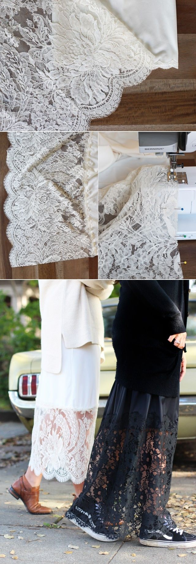 Beautiful layering piece and slip extender to lengthen your dress and extend your skirt