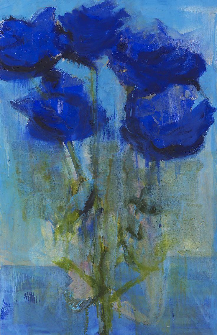lawrenceleemagnuson:  Rainer Fetting (Germany b. 1949)Blaue Rosen (1999)oil on canvas 170 x 110cm