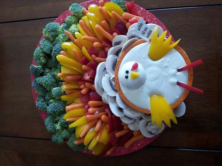 Turkey veggie tray