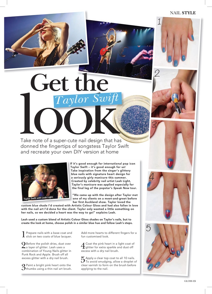 22 best artistic polish nail art images on pinterest facts celebrity manicurist and artistic nail design educator leah light explains how to get taylor swifts look prinsesfo Image collections