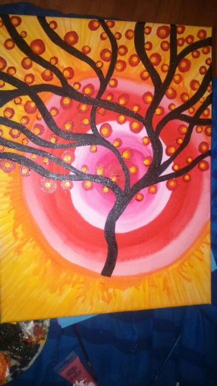 Pintura con  acrilico...un regalito a mi amiga.