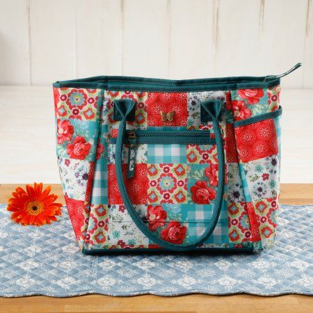 The Pioneer Woman Patchwork Lunch Tote w/ Hydration Bottle - Walmart.com