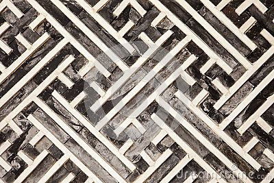 Korean Geometric Pattern In Wood by Matthew Ragen, via Dreamstime