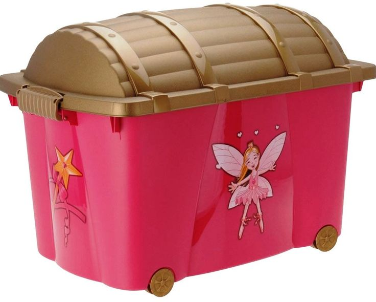 Toy Chest for Girls Faries | Girls Pink Toy Box and Toy Chest Selection - Princess Fairy Princess ...