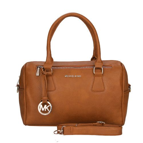 Perfect Michael Kors Grayson Saffiano Logo Medium Brown Satchels, Perfect You