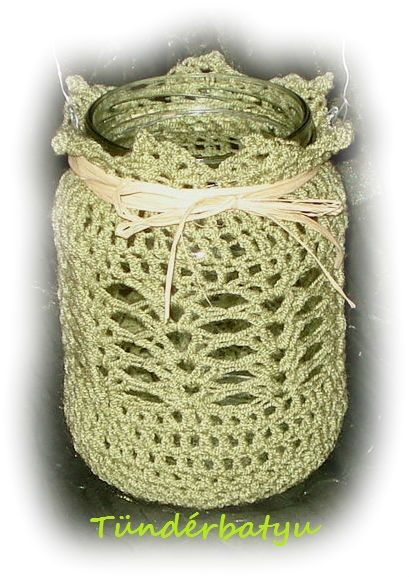 crocheted lampion,candle -light,vase