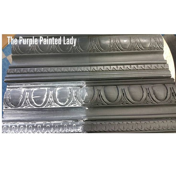 Graphite CHALK PAINT with..... Clear Wax in the upper LEFT,  Dark Wax in the upper RIGHT, bottom RIGHT Black wax and bottom LEFT White Wax