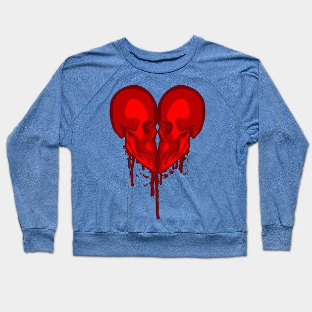 Eternal Valentine - Goth Heart - Crewneck Sweatshirt | TeePublic