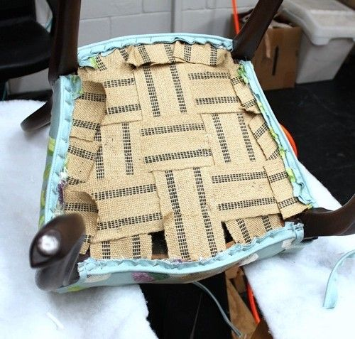 Detailed 3 Part Upholstery Tutorial For A Chair With Coil Springs