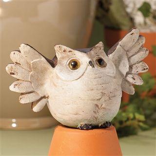 Elated Owl Figurine at Linda Anderson