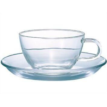Glass teacup and saucer set for when you want to impress with your tea.