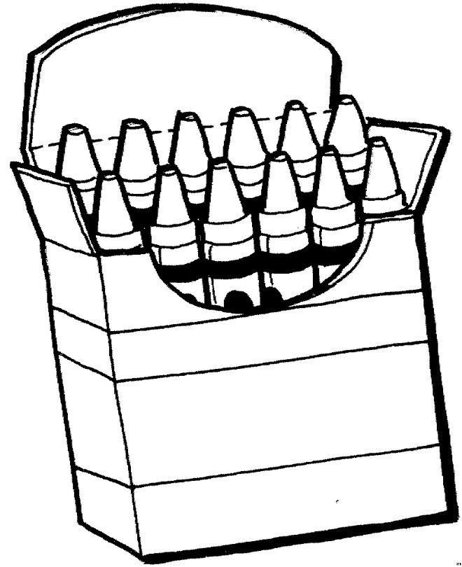 Box Of Crayons Coloring Page 5 By Laura Coloring Pages School