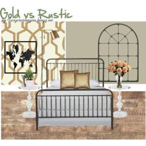 Gold vs Rustic #Bedroom
