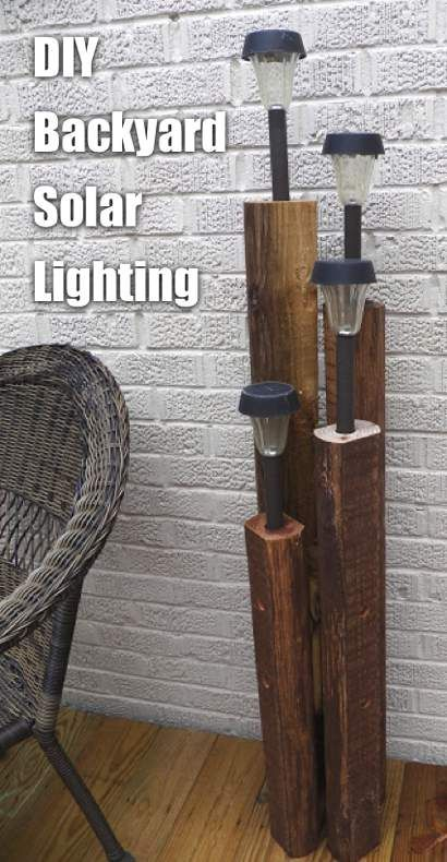 soportes para luces solares