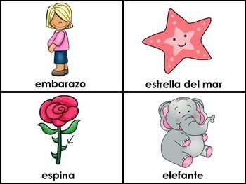 La Letra E (Las Vocales) - Spanish Flashcards for the Letter E