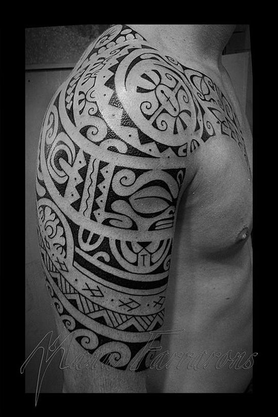 http://tattooideas247.com/polynesian-tribal-sleeve/ Tribal Sleeve #Polynesian, #Sleeve, #Tahiti, #Tahitian, #Tribal